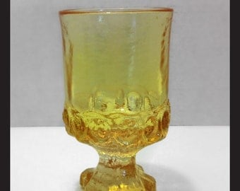 Tiffin for Franciscan Madeira Yellow Cornsilk Footed Water Goblet
