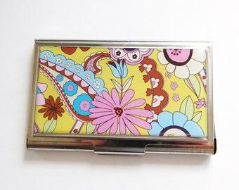 Flower card case, Floral case, Business Card Case, business card holder, Card case, Modern Flowers, Flower Power (3230)