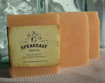 Orange Grapefruit Lemongrass Speakeasy Soap, vegan, handmade