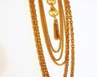 Necklace Chain Runway Beautiful long