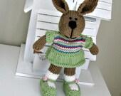 Spring Plush Bunny Rabbit - Knit Bunny - Knit Bunny Easter Toy - Knit Toy - Kids Toy - Stuff Animal - Plush Doll - Easter Plush Melanie