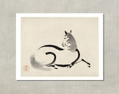 Uma Horse, 1890 - Japanese Fine Art Print - 8.5x11 Poster Print - also available in 11x14 and 13x19 - see listing details