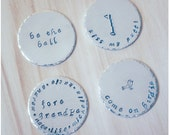 2 Hand Stamped Golf Ball Markers - Grandpa Gift - Kiss My Putt - Be the Ball - Custom Golf Ball Marker