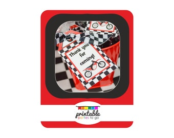 INSTANT DOWNLOAD Motorcross Motorcycle Printable Favor Tags - Please Read Description Thoroughly - Printable Parties to Go