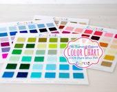 136 Yummy Colors - 100% Pure Wool Felt Color Chart  - 136 Beautiful Colors - Merino Wool Felt - Wool Felt Swatch Color Chart - Colorful Felt