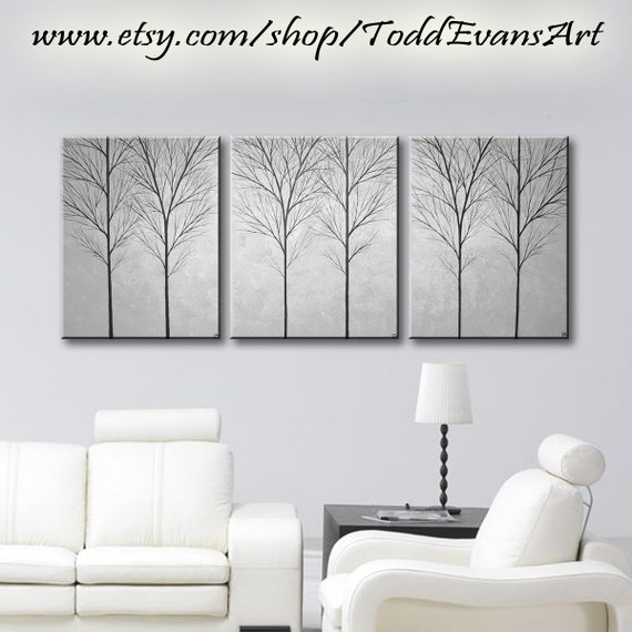 sale large wall art canvas art home decor tree by toddevansart