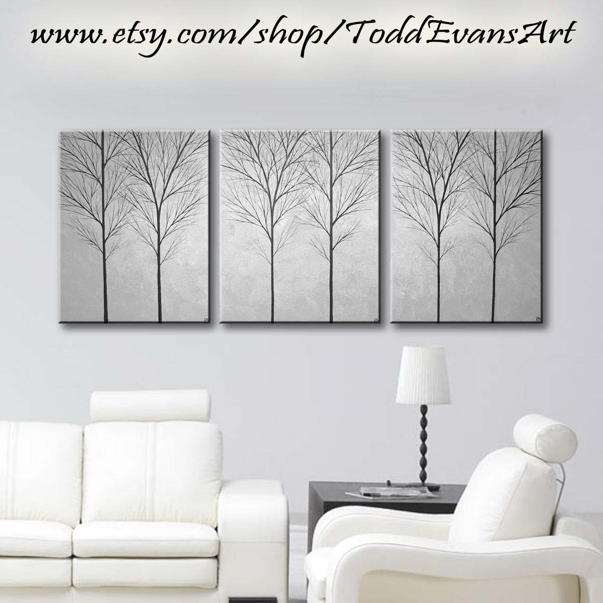 sale wall art canvas painting large tree art wall decor home decor wall hangings trees gray