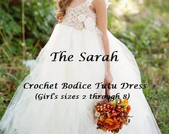 INSTANT DOWNLOAD The Sarah - Girls Crochet Tutu Dress PDF Pattern