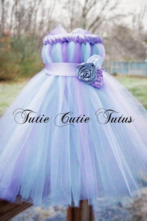 Sweet Lavender Silver and White Tutu Dress - photo #47