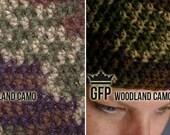 Simple Crochet Hat - Woodland Camo