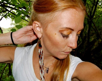 The Sienna- Incredibly Long Seed Bead Fringe Earring