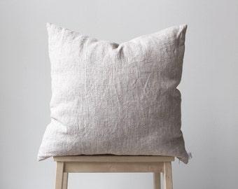 Linen pillow cover 18x18, 45x45cm, Natural linen Eco friendly home decor, Beach House, Decorative Pillows