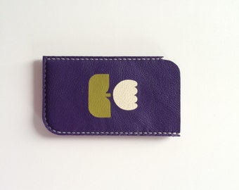 Phone Pouch Phone Case Phone Sleeve Phone Wallet / for iphone 6 iphone 5 5S iphone 5C iphone 4 4S samsung galaxy s3 s4 s5, Purple and Tulip