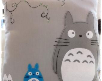 Totoro, Totoro Cushion, Totoro pillow, Totoro cushion, purple cushion