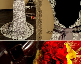 Baroque Dusty Purple Wedding Dress, Purple Wedding Dress, Wedding Dress with Lace Straps, Keyhole Back Dress, Wedding Dresses, Lace Dresses