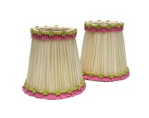 10% OFF Vintage French Lampshades. Clip On Lampshades. Chandelier Light Shades.