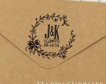 Custom Personalized Wedding Stamp (A01)