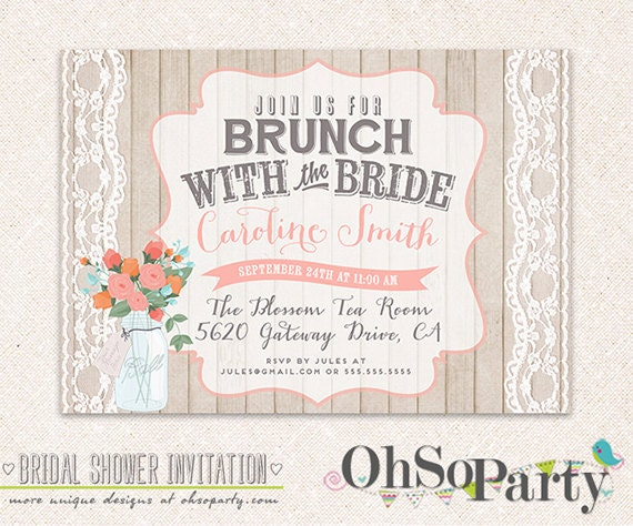 Bridal Brunch Shower Invitations as adorable invitation ideas