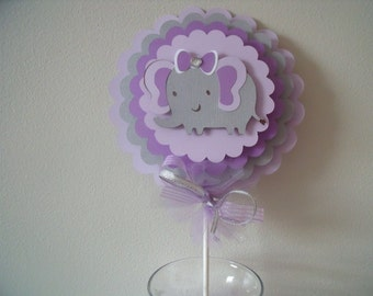 dollar purchase elephant theme centerpieces table accents baby shower