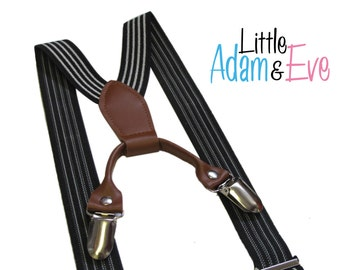Baby Suspenders, Toddler Suspenders, Black White Stripped Baby Boy Suspenders, toddler, baby boy suspenders, toddler suspenders, suspenders