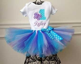 1st Birthday Butterfly Tutu Outfit