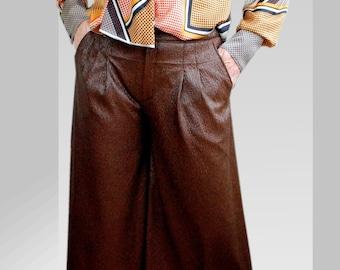Culottes in chocolate brown EU size m