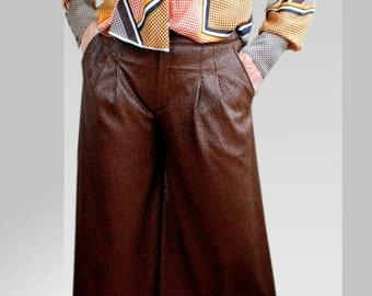 Skirt in chocolate brown EU gr. 40