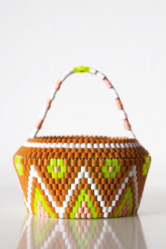 Handmade Beaded Basket : Handmade swedish beaded baskets scandinavian by hejsangoods