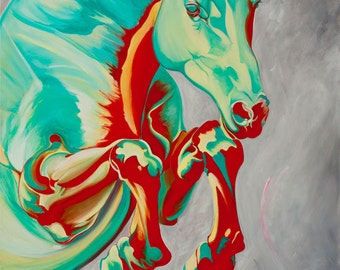Equestrian Painting : Leap