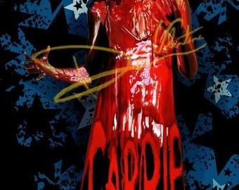Stephen King's Carrie White Original Painting (Print) horror film prom movie