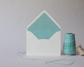 dumbbell lined envelopes (25 color options) - sets of 10