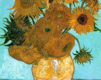 Sunflowers by Van Gogh, various sizes, Giclee Canvas Print