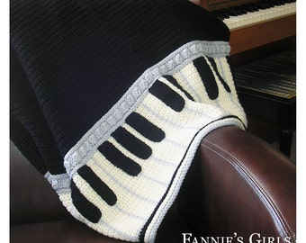 Crochet Pattern For Piano Afghan : Popular items for piano afghan on Etsy
