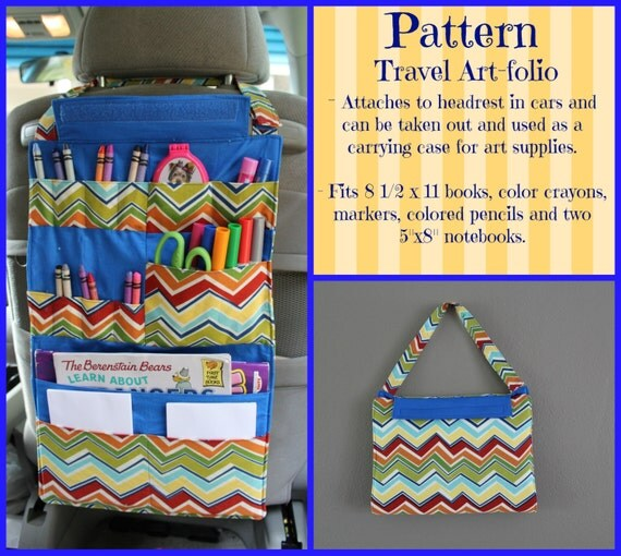 tutorial kids car organizer pattern activity portfolio crayon holder instant download. Black Bedroom Furniture Sets. Home Design Ideas