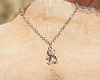 Silver Teddy Bear bracelet