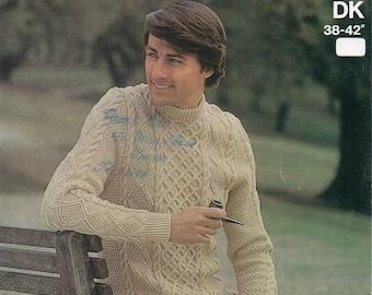 Knitting Pattern Mens Crew Neck Jumper : MENS CREW NECK SWEATER KNITTING PATTERN   KNITTING PATTERN