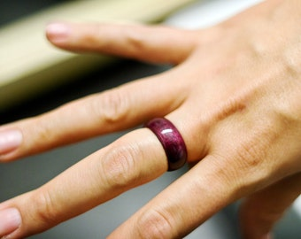 Purple Heart Wood Ring Made to Order