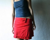 Wrap skirt, Cotton skirt, Red skirt, Jersey skirt, Womens clothing, Pencil skirt, Maternity skirt, plus size clothes, Mini skirt, Knee skirt