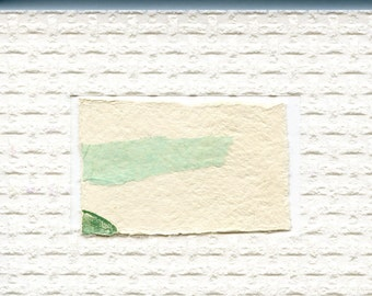 Minimalist Textured Art // ooak /  greeting card 1 / gelatin print