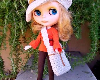 Blythe Pattern, Blythe Hat Pattern, Blythe Doll Clothes, Blythe Clothes, Blythe Outfit, Blythe Crochet Pattern, Blythe Bag, Doll Hats
