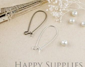 50pcs Nickel Free 33mm Long Brass Hoop Earrings (HE146/XE161)