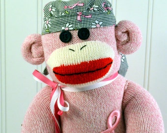 Breast Cancer Sock Monkey