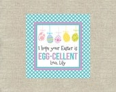 Personalized Gift Tags Printable - Eggcellent Easter - Easter Tags - Eggs - Digital File
