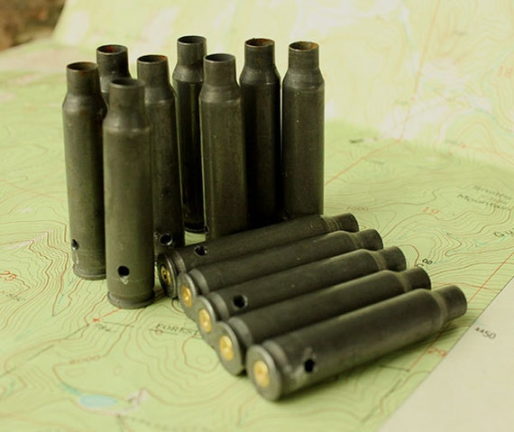 5 BIG Gunmetal Steel 223 Rifle bullet Shell Casings from Colorado - Guns Ammo Spent Empty cartridge. Side-Drilled 5- R223-ST-SD*