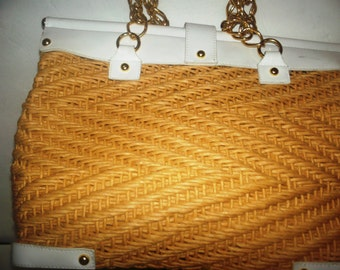Summer straw hand bag