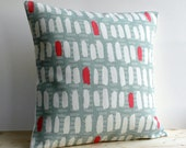 Geometric Cushion Cover 16 Inch Modern Pillow Cover 16 Inch Pillow Sham - Brushstrokes Red