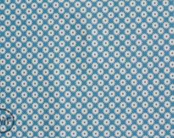 LAST PIECE Fat Quarter Sidewalks Starburst in Blue, October Afternoon, Riley Blake Designs, 100% Cotton Fabric, C3486-Blue