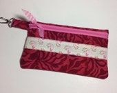 Sale Zipper Pouch, Cell phone iphone Case, Small Clutch Wallet, Makeup Cosmetic Organizer Bag