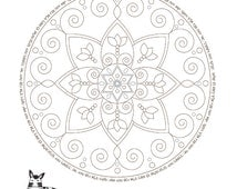 Birkat Kohanim-Strength Mandala-Coloring Page-Jewish Prayer-Priestly Blessing-Healing Mandala-Woman of Valor-INSTANT DOWNLOAD-Girl Printable