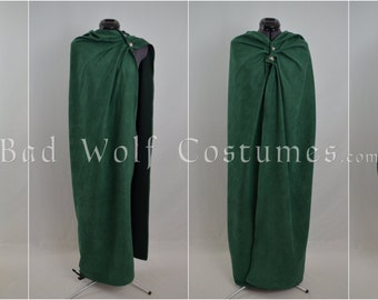 Hooded Versatile Fantasy Cloak with Sword Buttons - Four Plus Ways to Wear It - Color Options